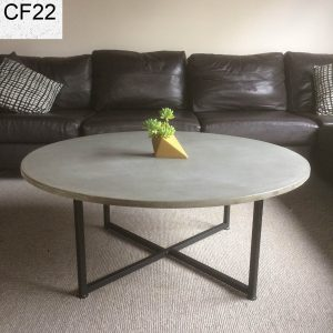 Concrete coffee table with matte black legs, Geelong