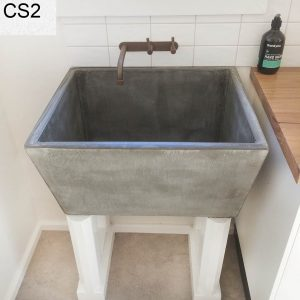 Geelong-made concrete sink for Belmont laundry