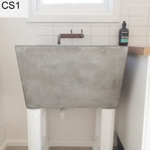 Laundry concrete sink installed in Belmont, Geelong