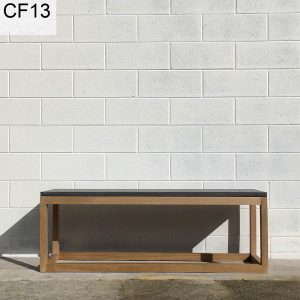 Concrete bench seat with hardwood, Geelong