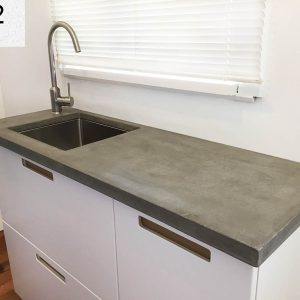 Custom concrete benchtop in Fawkner