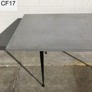 Geelong concrete dining table with vintage legs